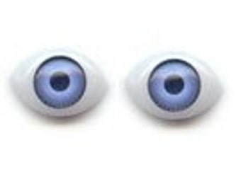 100 (50 pairs) doll eyes repair parts 8X11 Lt.blue