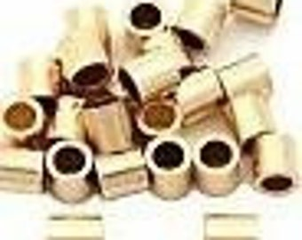 100 gold plated crimp tube beads 1.5mm