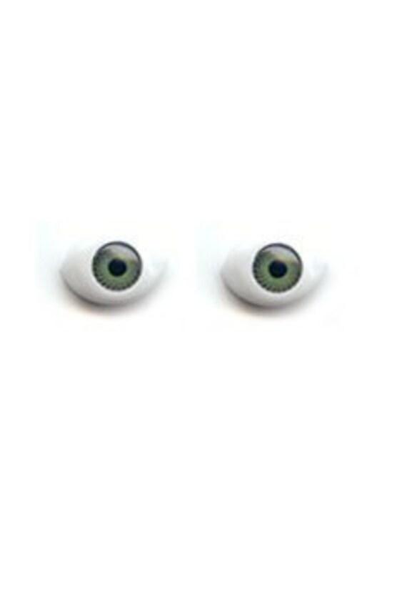 20 (10 pairs) doll eyes repair parts 10X13 green