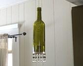 Recycled Wine Bottle Lantern/Candle Holder