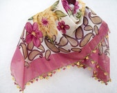 Handmade Traditional Turkish Fabric Scarf-Crochet Oya women scarf mothers day