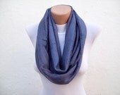 SALE %20 - Was 14 Now 11,2-infinity scarf Loop scarf Neckwarmer Necklace scarf Fabric scarf  blue