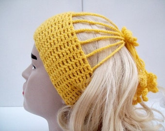 Crochet Headband, Ear Warmer, Women Headband, Headwrap, Turban