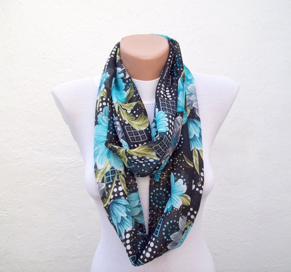 Infinity Scarf Circle Scarf Loop scarf fabric scarf woman scarf sale