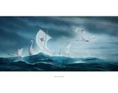 Art Print - Into the Storm - Seascape -  A3 (11.7x16.5) print by John Emanuel Shannon