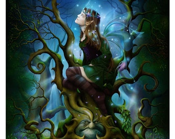 Art Print - Fairy Queen of Deadly Nightshade A3 (11.7x16.5) Print by John Emanuel Shannon