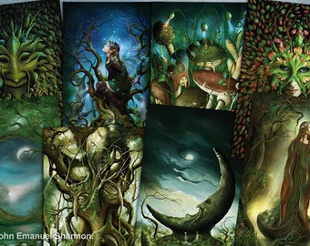 post card set 8 Fantasy Art Cards by John Emanuel Shannon