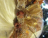 Golden Fall Harvest Festival Hair Barrette Unique and Elegant