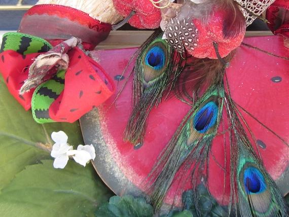 Sweet SuMMeR WaTeRMeLoN Front Door Wreath  SALE 16 x 15 x 6