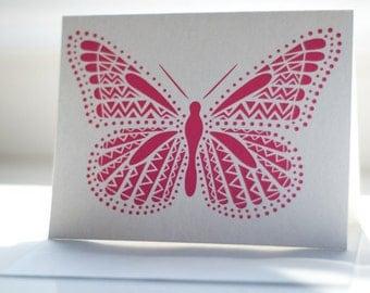 Fuchsia Butterfly Notecard