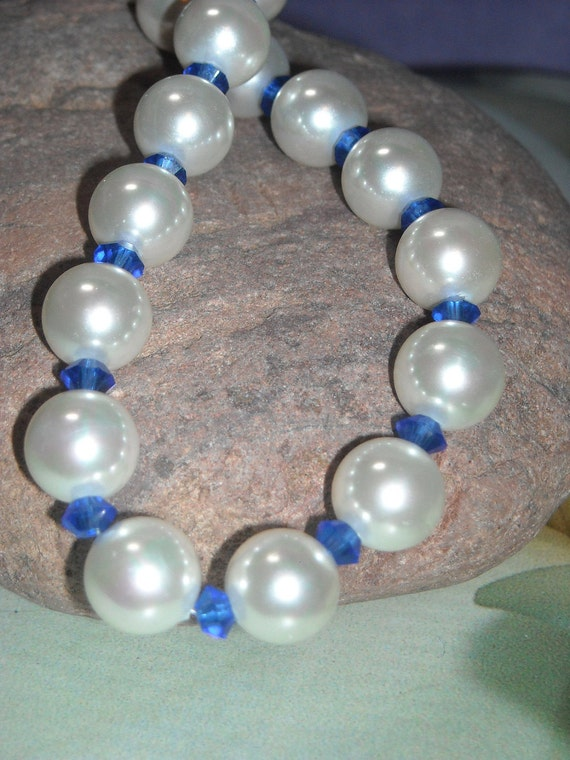 Sea Shell Pearl Necklace Valentines Day Graduation Something Blue White Pearl Necklace Romance Wedding Bridal Necklace Under 50