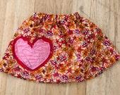 I'm-In-Love Flower Skirt - Small