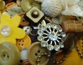 Cascading Blooms Mixed Media Bib Necklace