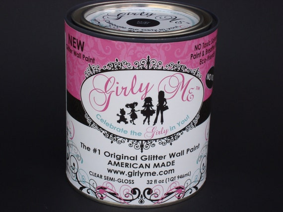 Gilry Me Glitter Wall Paint in FAIRY DUST - Top Coat Semi Gloss Paint for Walls, Baby Room, Childrens Room, Boys and Girls