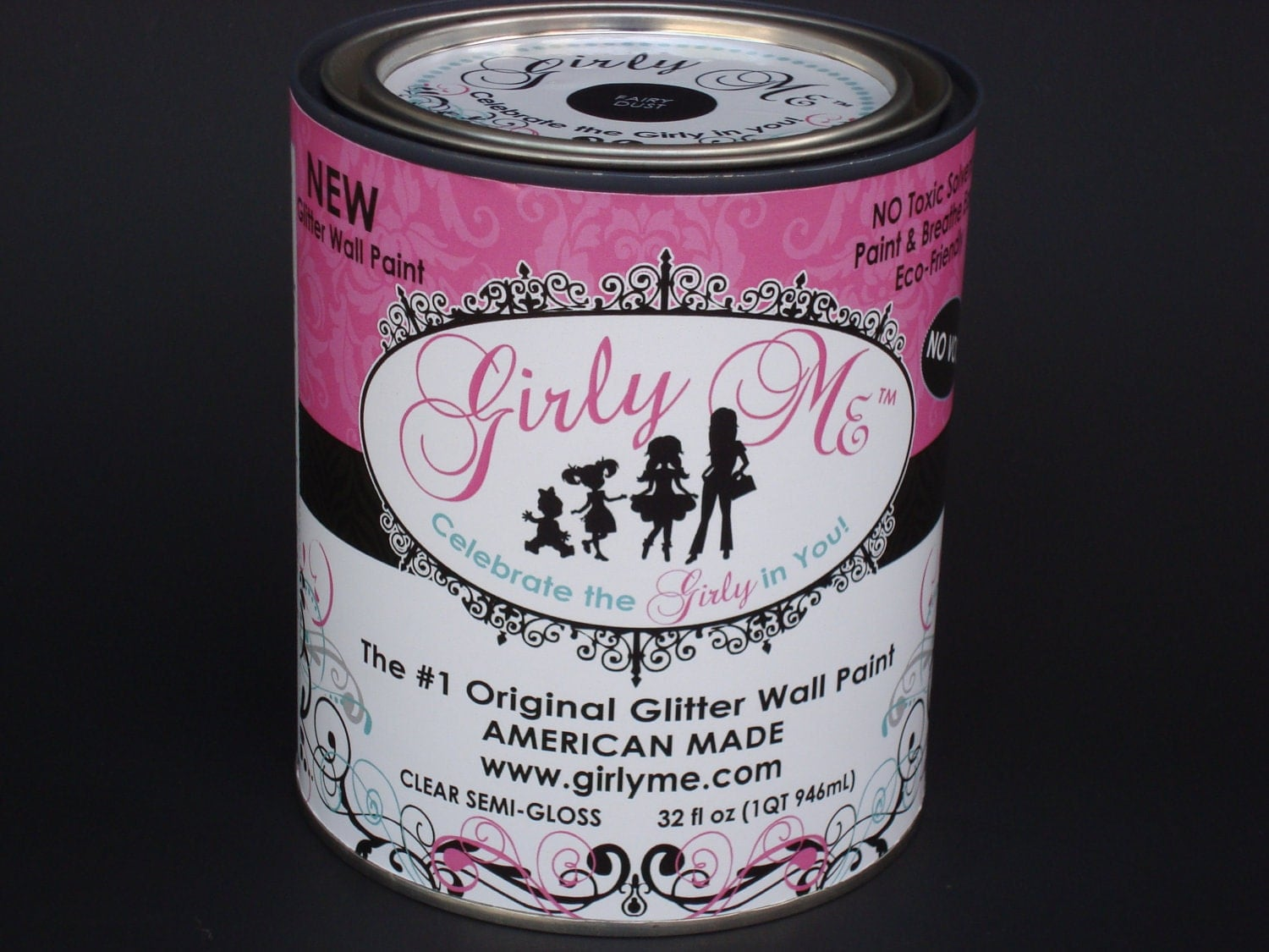 gilry me glitter wall paint in bling 2 cans of glitter. Black Bedroom Furniture Sets. Home Design Ideas