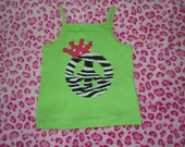 Zebra Peace Sign Princess Shirt....perfect for any Diva