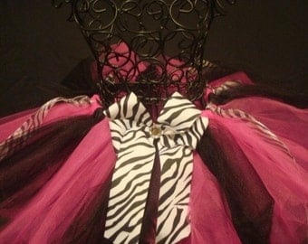 Hot Pink, Black, and Zebra Tutu