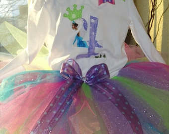 Princess and the Frog tutu outfit...perfect for Princess and the Frog birthday party