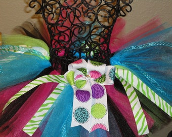 Funky and fun zebra tutu