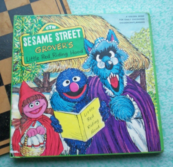Children's Book - GROVER'S Little Red Riding Hood - Sesame Street  - Vintage Illustrated 1980s