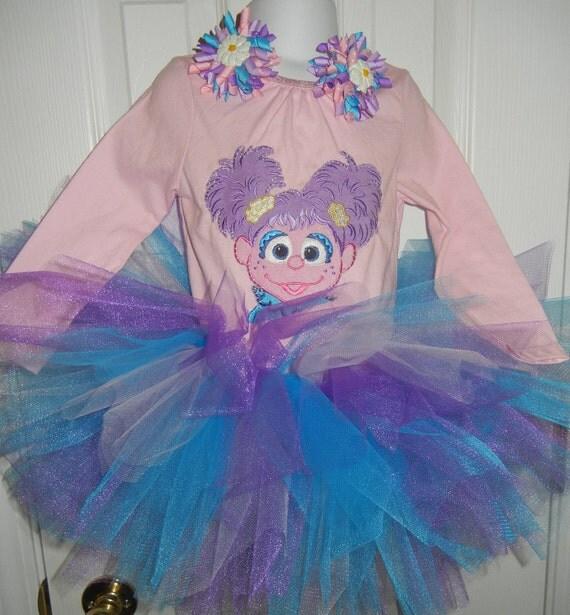 Sesame Street ABBY CADABBY tutu set 0 3 6 9 12 18 24 mos. 2T 3T 4T 5T