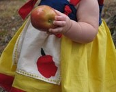 Custom Snow White Themed Apron Knot Dress Size 6 month - 6 Years