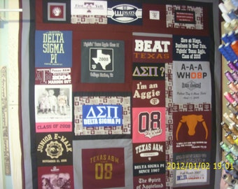 Custom Made T-Shirt Quilt made from your t-shirts (--DEPOSIT ONLY--)