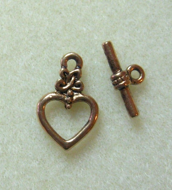 Gold Heart Toggle Clasp Findings Designs Jewelry Necklaces