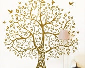Large tree birds 64by60 inches----Removable Graphic Art wall decals stickers home decor