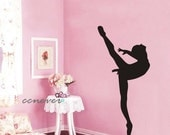 Dancing Girl Ballet----Removable Graphic Art wall decals stickers home decor