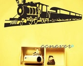 cool train 48inch kids nursery----Removable Graphic Art wall decals stickers home decor