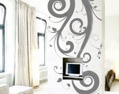 Amazing Flying Flowers 42inch H----Art  bedroom Vinyl wall decals stickers home decor