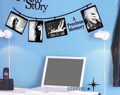 Sweet Memory photo frame----Removable Graphic Art wall decals stickers home decor