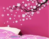 Cherry Blossom Filled/outlined flowers----Art Graphic Vinyl wall decals stickers home decor