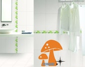 Cute 2 mushroom----Removable Graphic Art wall decals stickers home decor