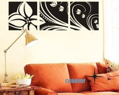 Flowers Panel----Removable Graphic Art wall decals stickers home decor