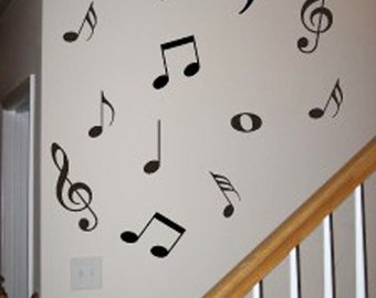 45 Music Note Vinyl wall stickers mural decals home decor
