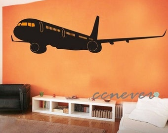 LARGE 80by20 inch Airline Aircraft 737----art Graphic Vinyl wall decals stickers home decor