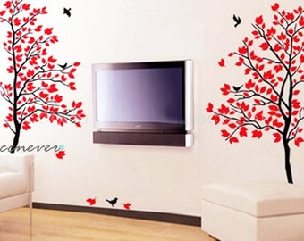 Love spring tree 68inch H birds----Removable Graphic Art wall decals stickers home decor