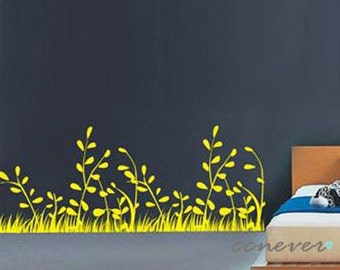 Vivid Spring Grass 40inch----Removable Graphic Art wall decals stickers home decor