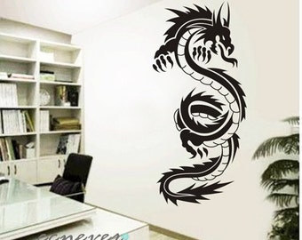 40inch H Chinese dragon----Removable Graphic wall decals stickers mural home decor