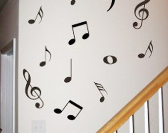 45 Music Note----Removable Graphic Art wall decals stickers home decor