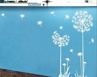 Dandelion Flowers 40inch H----art Graphic Vinyl wall decals stickers home decor