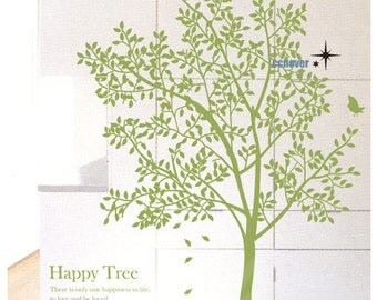 My happy Garden Tree 72inch H----Removable Graphic Art wall decals stickers home decor
