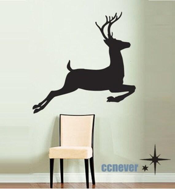 Deer hunting design vinyl wall stickers mural decals home for Deer mural decal