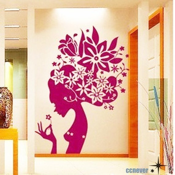 Floral spring princess----art home Vinyl wall decals stickers home decor