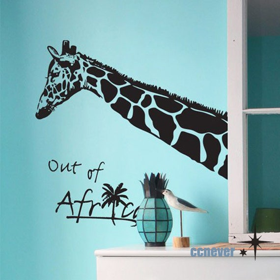 Giraffe Out Of Africa Kids Nursery----Removable Graphic Art wall decals stickers home decor
