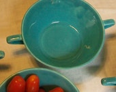 Turquoise Harlequin Bowls by Homer Laughlin