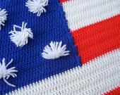 stars and stripes afghan blanket - large