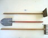 children's vintage gardening tools